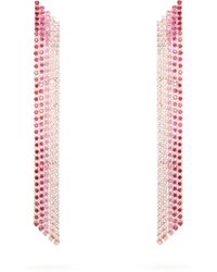 Lynn Ban Waterfall Sapphire & Rose Gold-plated Earrings - Multicolour