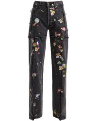 Vetements - Sticker Mid-rise Straight Leg Jeans - Lyst
