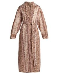 Emilia Wickstead - Wallace Python-print Coat - Lyst