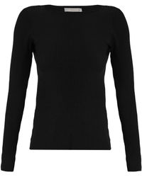 Vince - Boat-neck Ribbed-knit Top - Lyst