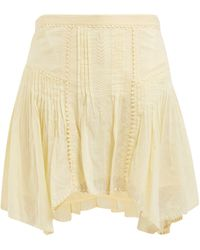 Étoile Isabel Marant Akala Lace-trimmed Cotton Mini Skirt - Yellow