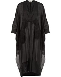 lila.eugénie - 1801 V-neck Cotton And Silk-blend Kaftan - Lyst