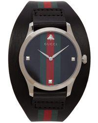 Gucci - Montre en cuir à bande Web G-Timeless - Lyst