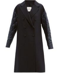 Moncler クラー ダウンシェル&ウールカシミア コート - ブラック