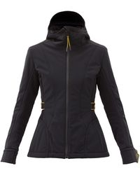 Fendi Veste de ski imperméable à étiquette logo - Noir