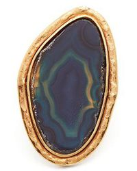 Sylvia Toledano - Barbare Agate Gold-plated Ring - Lyst
