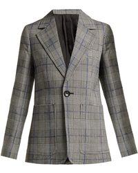 JOSEPH - Annab Prince Of Wales Checked Wool Blazer - Lyst