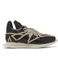 Rick Owens Black And Grey Maximal Runner Sneakers
