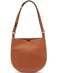 Valextra Hobo Weekend Medium Leather Bag - Brown