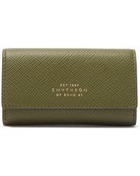 Smythson Burlington Leather Key Holder - Green