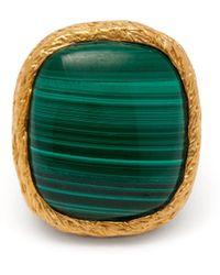 Aurelie Bidermann - Miki 18kt Gold Plated Ring - Lyst