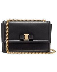 Ferragamo - - Ginny Medium Leather Shoulder Bag - Womens - Black - Lyst