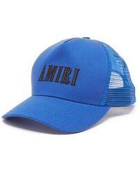 Amiri ロゴ キャンバスベースボールキャップ - ブルー