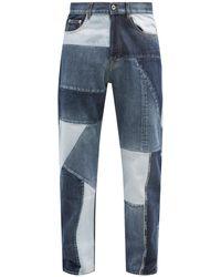 Valentino パッチワーク リラックスジーンズ - ブルー