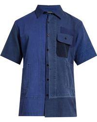Longjourney - Aged Patchwork Short-sleeved Shirt - Lyst