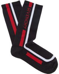 Givenchy - Logo Intarsia Cotton Sports Socks - Lyst