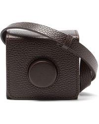 Lemaire Sac bandoulière en cuir Camera mini - Noir