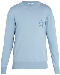 Givenchy - Star-embroidered Cotton Sweater - Lyst