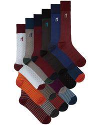 London Sock Company Ensemble de 15 paires de chaussettes en coton - Multicolore
