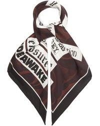 Raf Simons スワールプリント シルクツイルスカーフ - マルチカラー