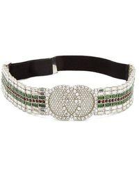 Gucci - - Tennis Crystal Embellished Headband - Womens - Green - Lyst