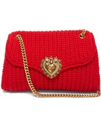 Dolce & Gabbana ディヴォーション ニット ショルダーバッグ - レッド