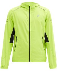 Asics Lite Show Hooded Shell Jacket - Green