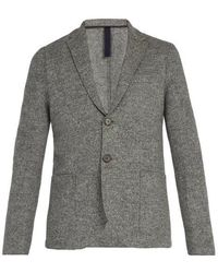 Harris Wharf London - - Donegal Single Breasted Wool Blazer - Mens - Light Grey - Lyst