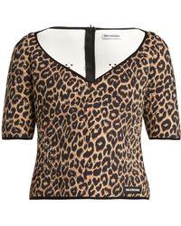 Balenciaga - Haut en néoprène à imprimé léopard - Lyst