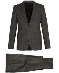 Givenchy - Single Breasted Houndstooth Wool Suit - Lyst