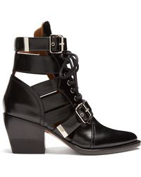 Chloé - Serina Leather Ankle Boots - Lyst