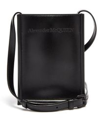 Alexander McQueen レザークロスボディバッグ - ブラック