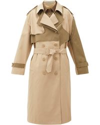 Preen Line Trench-coat en sergé à double boutonnage Adel - Neutre