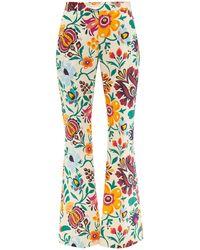 La DoubleJ Pantalon en coton à imprimé floral Saturday Night - Multicolore