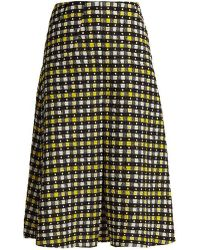 Duro Olowu - Napoli Check-print Pleated A-line Skirt - Lyst