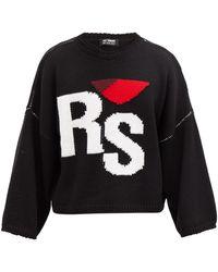 Raf Simons - ロゴジャカード オーバーサイズウールセーター - Lyst