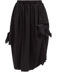 Comme des Garçons Comme Des Garçons Comme Des Garçons リボンタイ ウールスカート - ブラック