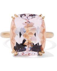 Irene Neuwirth Gemmy Gem Morganite & 18kt Rose-gold Ring - Purple