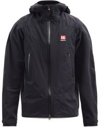 66 North Snaefell Shell Hooded Jacket - Black