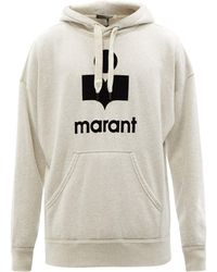 Isabel Marant Sweat-shirt en coton à logo floqué Miley - Multicolore