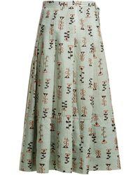 Marni - Graphic-print Pleated Midi Skirt - Lyst