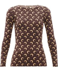 Marine Serre - Moon-print Recycled-jersey Top - Lyst