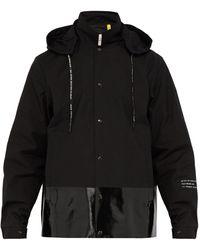 7 MONCLER FRAGMENT スカ フーデッドコットンシェルジャケット - ブラック