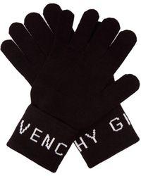 Givenchy ウールグローブ - ブラック