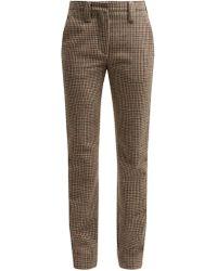 Miu Miu - Houndstooth Wool Trousers - Lyst