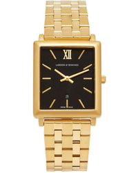 Larsson & Jennings Norse 18kt Gold Plated Stainless Steel Watch - Metallic