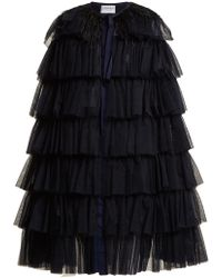 OSMAN - Valeria Ostrich-feather Trimmed Cape - Lyst