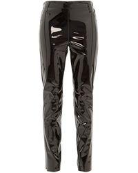 Raey Elasticated Back Skinny Vinyl Pants - Black