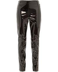 Raey Elasticated-back Skinny Vinyl Pants - Black