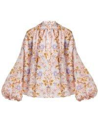 Thierry Colson - Slava Floral-print Cotton Blouse - Lyst
